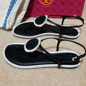 ddda2302d92bc Tory Burch Shoes - Tory Burch Miller Fringe Sandal Size 8.5